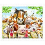 Pintoo-H2038 Puzzle aus Kunststoff - Howard Robinson - Farm selfie
