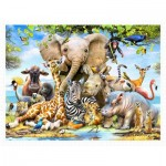 Pintoo-H2043 Puzzle aus Kunststoff - Howard Robinson - Africa Smile