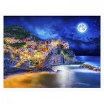Pintoo-H2056 Puzzle aus Kunststoff - Starry Night of Cinque Terre, Italy