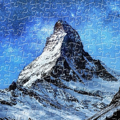 Pintoo-H2066 Puzzle aus Kunststoff - Light of Zermatt, Switzerland