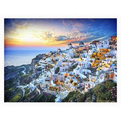 Pintoo-H2073 Puzzle aus Kunststoff - Beautiful Sunset of Greece