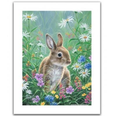 Pintoo-H2082 Puzzle aus Kunststoff - Abraham Hunter - Spring Bunny