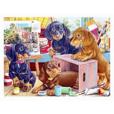 Pintoo-H2087 Puzzle aus Kunststoff - Puppies in the Studio