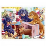 Pintoo-H2087 Puzzle aus Kunststoff - Puppies in the Studio