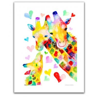 Pintoo-H2092 Puzzle aus Kunststoff - Reina Sato - Giraffe Family