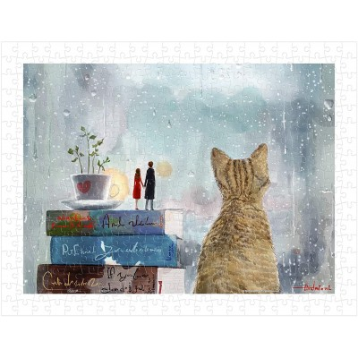 Puzzle  Pintoo-H2141 Endmion1 - Lovers and Cat