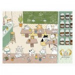 Puzzle  Pintoo-H2242 Ms. Cat - Philosopher Cafe