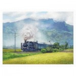 Puzzle  Pintoo-H2323 Lai Ying Tse - A Steam Train Passes Through the Rice Fields