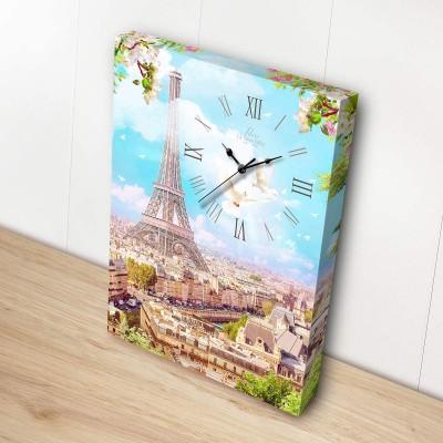 Puzzle  Pintoo-HK1003 Leinwand mit Uhr - Spring in Paris