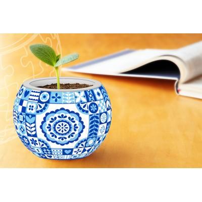 Pintoo-K1055 3D Puzzle - Flowerpot - Danish Folklore Style
