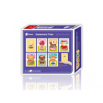 Pintoo-M1281 8 Puzzles 40 Teile - Puzzle aus Kunststoff - Showpiece - Lovely Shops