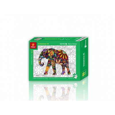Pintoo-P1106 Puzzle aus Kunststoff - The Cheerful Elephant