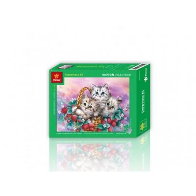 Pintoo-P1119 Puzzle aus Kunststoff - Katzen