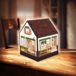 Pintoo-R1004 3D Puzzle - House Lantern - Lovely Cafe Shop