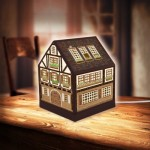 Pintoo-R1006 3D Puzzle - House Lantern - Half-Timbered House