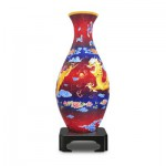 Pintoo-S1002 Puzzle 3D Vase aus Kunststoff 160 Teile - Drache und Phönix