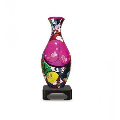 Pintoo-S1010 3D Puzzle Vase - Japanische Puppen