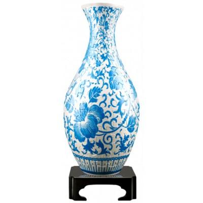 Pintoo-S1012 3D Puzzle Vase - Orientalische Blumenverzierung