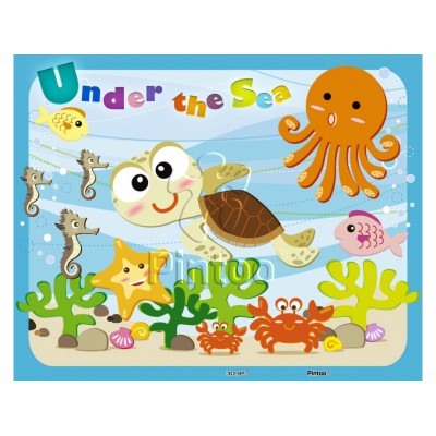 Pintoo-T1007 Puzzle aus Kunststoff - Under the Sea