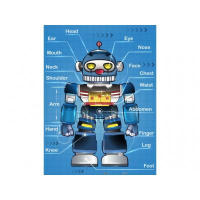 Pintoo-T1010 Puzzle aus Kunststoff - Robot