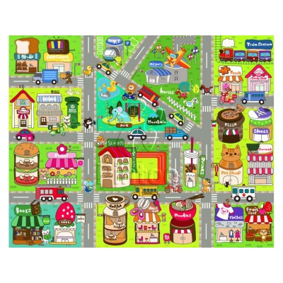 Pintoo-T1015 Puzzle aus Kunststoff - Cute Street Map
