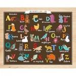 Pintoo-T1022 Puzzle aus Kunststoff - Alphabet and Animals (auf Englisch)