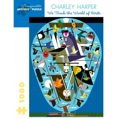 Puzzle  Pomegranate-AA1056 Charley Harper - We Think the World of Birds