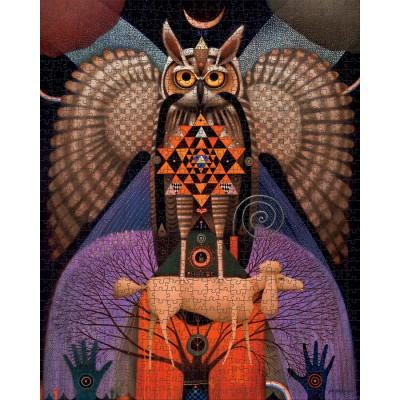 Puzzle  Pomegranate-AA1094 John Simpkins - Sri Yantra