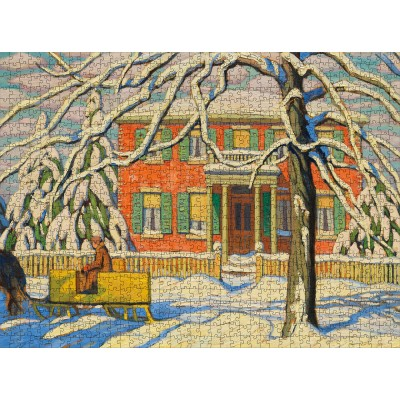 Puzzle  Pomegranate-AA1101 Lawren S. Harris - Red House and Yellow Sleigh