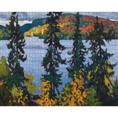 Puzzle  Pomegranate-AA1107 Lawren S. Harris - Montreal River
