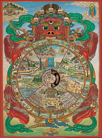 Puzzle  Pomegranate-AA553 Tibetan Wheel of Life