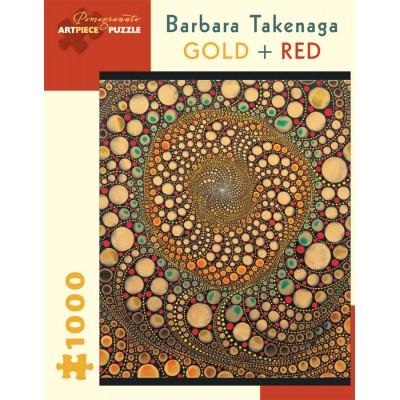 Puzzle  Pomegranate-AA836 Barbara Takenaga - Gold + Red