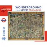 Puzzle  Pomegranate-AA920 MacDonald Gill - Wonderground Map of London