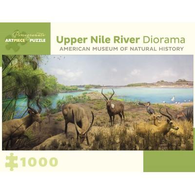 Puzzle  Pomegranate-AA957 Upper Nile River Diorama - 150 Miles Southwest of Lake No, South Sudan
