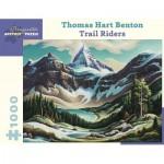 Puzzle  Pomegranate-AA962 Thomas Hart Benton - Trail Riders, 1964/1965