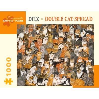 Puzzle  Pomegranate-AA997 Ditz - Double Cat-Spread