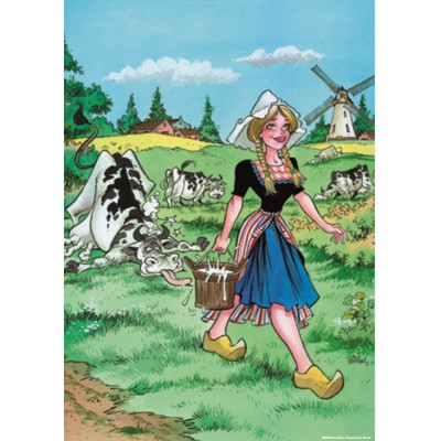 Puzzle  PuzzelMan-028 Rooie Oortjes: Die Milchhändlerin