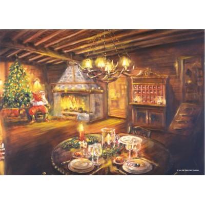 Puzzle  PuzzelMan-186 Das Wohnzimmer ein Weihnachtsabend