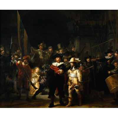 Puzzle  PuzzelMan-384 Kollektion Rijksmuseum Amsterdam - Rembrandt: Die Nachtwache