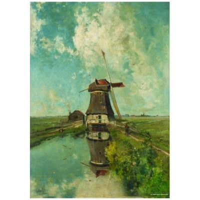 Puzzle  PuzzelMan-387 Kollektion Rijksmuseum Amsterdam - Paul Gabriel: Die Mühle