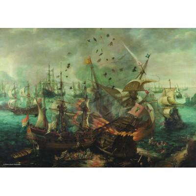 Puzzle  PuzzelMan-392 Kollektion Rijksmuseum Amsterdam - Van Wieringen: Seeschlacht