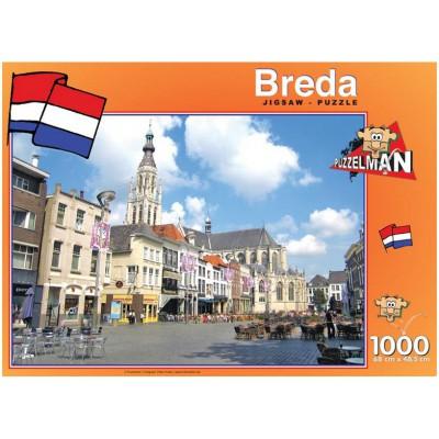 Puzzle PuzzelMan-426 Breda, die Niederlande: Kirche Notre Dame