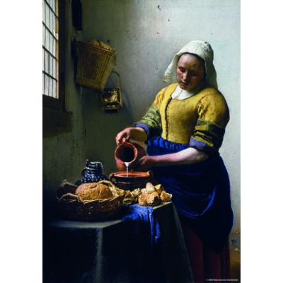 Puzzle  PuzzelMan-570 Kollektion Rijksmuseum Amsterdam - Vermeer Johannes: Die Milchhändlerin (Mini-Teile)