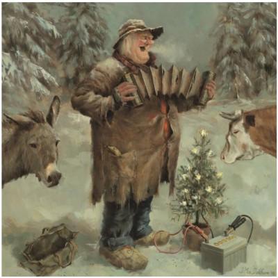 Puzzle  PuzzelMan-710 Marius van Dokkum - Weihnachtsmann