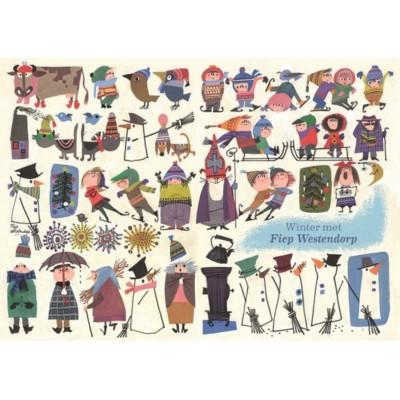 Puzzle  PuzzelMan-782 Fiep Westendorp - Winter met Fiep Westendorp