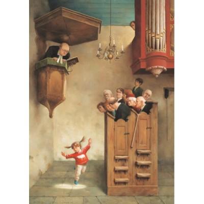 Puzzle  PuzzelMan-794 Marius van Dokkum - Tanz in der Kirche