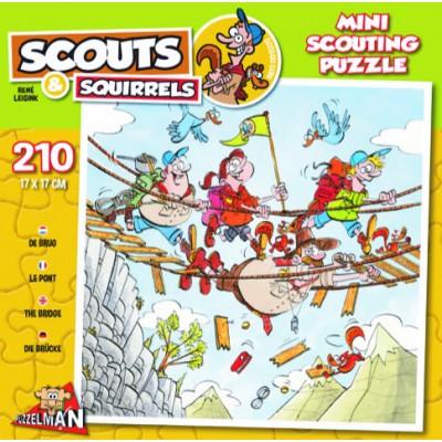 Puzzle  Puzzelman-814 Scouts & Squirrels - Hängebrücke