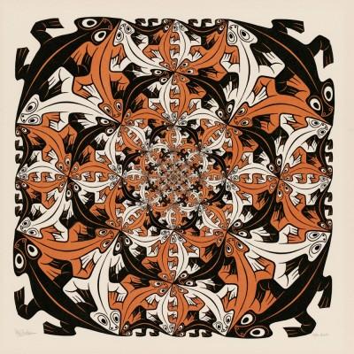 Puzzle  PuzzelMan-823 MC Escher: Salamanders