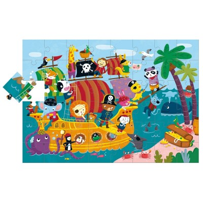 Ludattica-47222 Riesen-Bodenpuzzle - Piraten