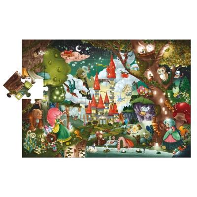 Ludattica-47239 Riesen-Bodenpuzzle - Magisches Schloss
